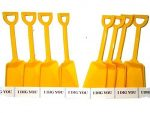Small Toy Plastic Shovels Yellow, 24 Pack, 7 Inches Tall, 24 I Dig You Stickers