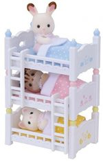 Calico Critters Baby Friends Triplets with Triple Baby Bunk Beds