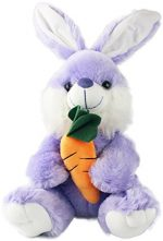 Plush Bunny Rabbit Stuffed Animal Large Easter Bunny with Carrot by bogo Brands (Purple)