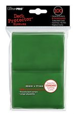 Ultra-Pro Sleeves: New Standard Green Deck Protectors (100)