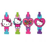 Adorable Hello Kitty Rainbow Blowouts Birthday Party Noisemaker Toy Favour (8 Pack), Multi Color, 5″.