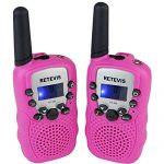 Retevis RT-388 22 Channel FRS/GMRS Kids Walkie Talkies for Children (Pink, 1 Pair)