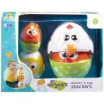 Earlyears Chicken 'N Egg Stackers – 8Piece Nesting & Stacking Play Set For 6 Months & Up Toy Figure