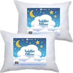 2 Pack- PharMeDoc Toddler Pillow for Children (14×19) – Hypoallergenic & Breathable Little Pillow – Soft & Delicate Cotton – Provides Back & Neck Support – Portable – Perfect As An Adult Travel Pillow