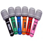 Tinksky 6pcs Inflatable Plastic Microphone 33CM Party Favor Kids Toy Gift (Random Color)