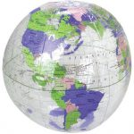 US Toy – Inflatable Clear Globe Beach Ball, Size 16″, Made of Vinyl