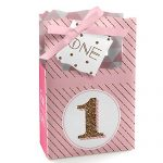 1st Birthday Girl – Fun to be One – Birthday Party Favor Boxes – Set of 12