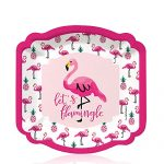 Flamingo – Party Like a Pineapple – Baby Shower or Birthday Party Dessert Plates (8 count)