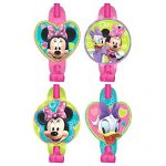 Disney Minnie Mouse Blowouts Birthday Party Toy Noisemaker Favour and Prize Giveaway (8 Pack), Multi Color, 5 5/8″ x 3 1/2″.