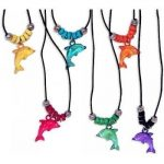 Fun Express Acrylic Dolphin Necklace with Jewel Eyes (2-Pack of 12)