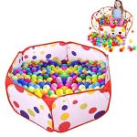 UClever Kids Ball Pit Playpen for 6 Months to 5 Years Old, 47.2 x 23.6 Inch (1.2m Extra Large) with Zippered Storage Bag
