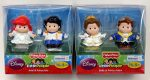 Fisher-Price Little People Disney Princess – Ariel & Prince Eric and Bell & Prince Adam