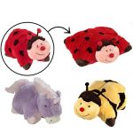 3 Pillow Pets Set Stuffed Animal Large Plush Kids Toys Ladybug Bee Unicorn 18″