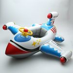 Inflatable Airplane Motorboat Baby Kids Swimming Float Seat Boat Pool Ring-White airplane