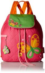 Stephen Joseph Quilted Backpack, Pink Butterfly