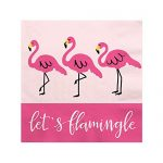 Flamingo – Party Like a Pineapple – Baby Shower or Birthday Party Beverage Napkins (16 count)
