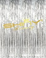 ShinyBeauty Tinsel Foil Fringe Curtain-3FTX8FT-Silver Door Window Curtain/Backdrops Party Decoration