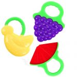 Microcosm Baby Teething Relief Toys With Fruit Design, Silicone FDA Approved BPA Free Baby Teether Toys- 100% Safe for Babies, Infants, Toddlers (3 Pack)