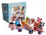 Sensei Play 'n' Learn Finger Family Puppets – People & Animals – 16 pcs – Finger Puppets Zoo Animals & Family Puppets For Kids, Babies, Toddlers & The Whole Family