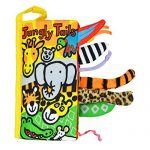 Malltop Soft Animal Jungly Tails Cloth Book Sets Baby Early Development Learning Education Toy 8.3×4.3″